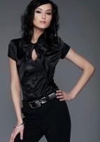 выкройка блузки с коротким рукавом из гипюра